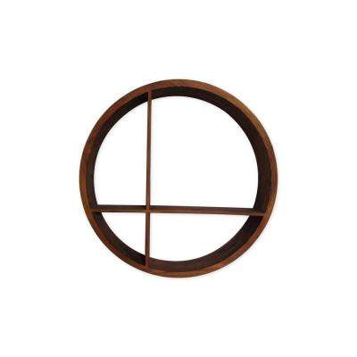 Malta Round Wood Wall Shelf