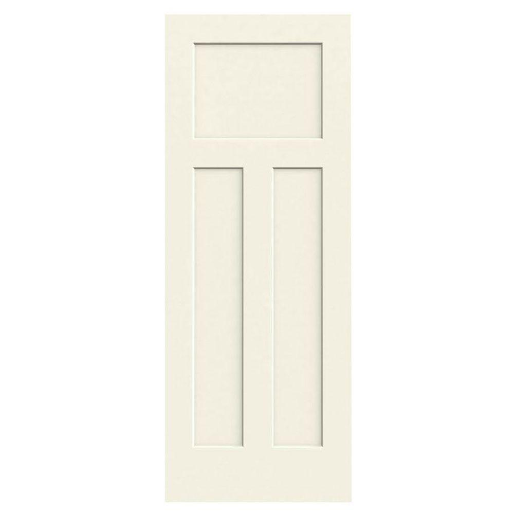 JELD-WEN 32 in. x 80 in. Craftsman Vanilla Painted Smooth Solid Core Molded Composite MDF Interior Door Slab