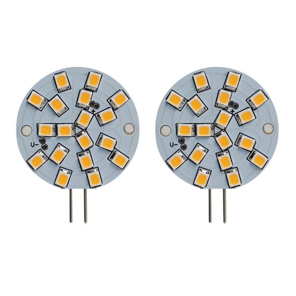 20-Watt Equivalent Wafer Non-Dimmable Bi-Pin (G4) LED Light Bulb Warm White Light (2-Pack)