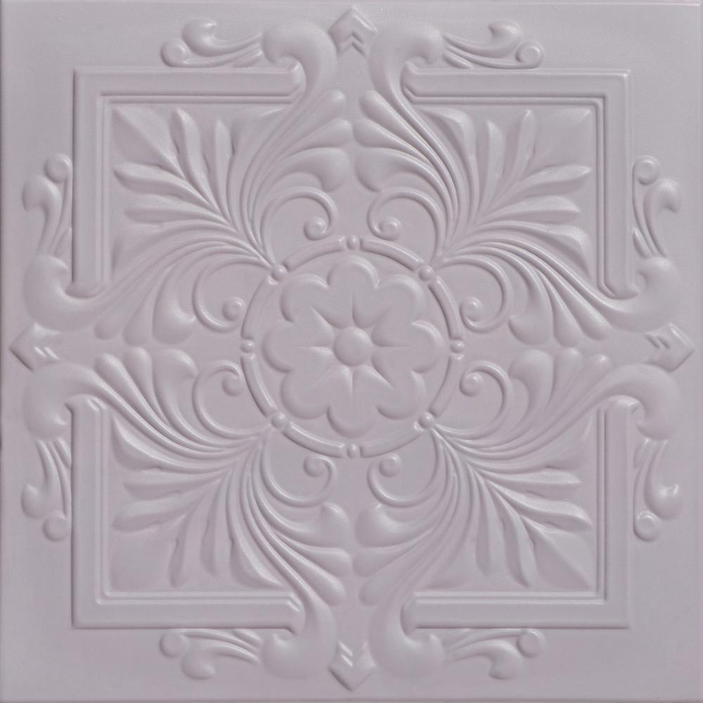 A La Maison Ceilings Victorian 1.6 ft. x 1.6 ft. Foam Glue-up Ceiling Tile in Inspired