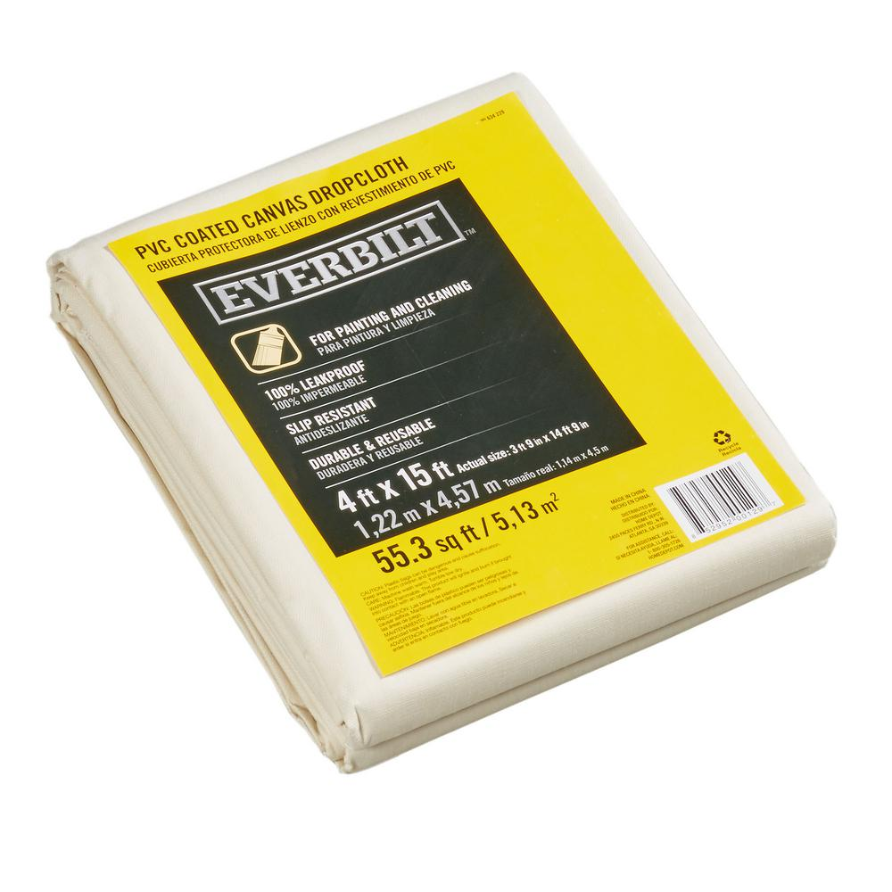 Everbilt 3 Ft 9 In X 14 Ft 9 In Poly Vinyl Backed Drop Cloth