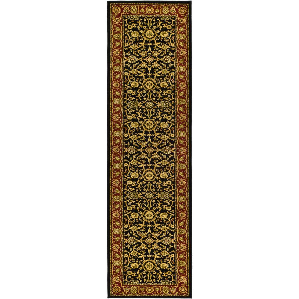 Lyndhurst Black/Red 2 ft. 3 in. x 12 ft. Runner