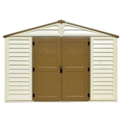 WoodBridge Plus 10.5 ft. x 8 ft. Vinyl Storage Shed