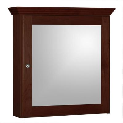 Shaker 24 in. W x 27 in. H x 6-1/2 in. D Framed Surface-Mount Bathroom Medicine Cabinet in Dark Alder