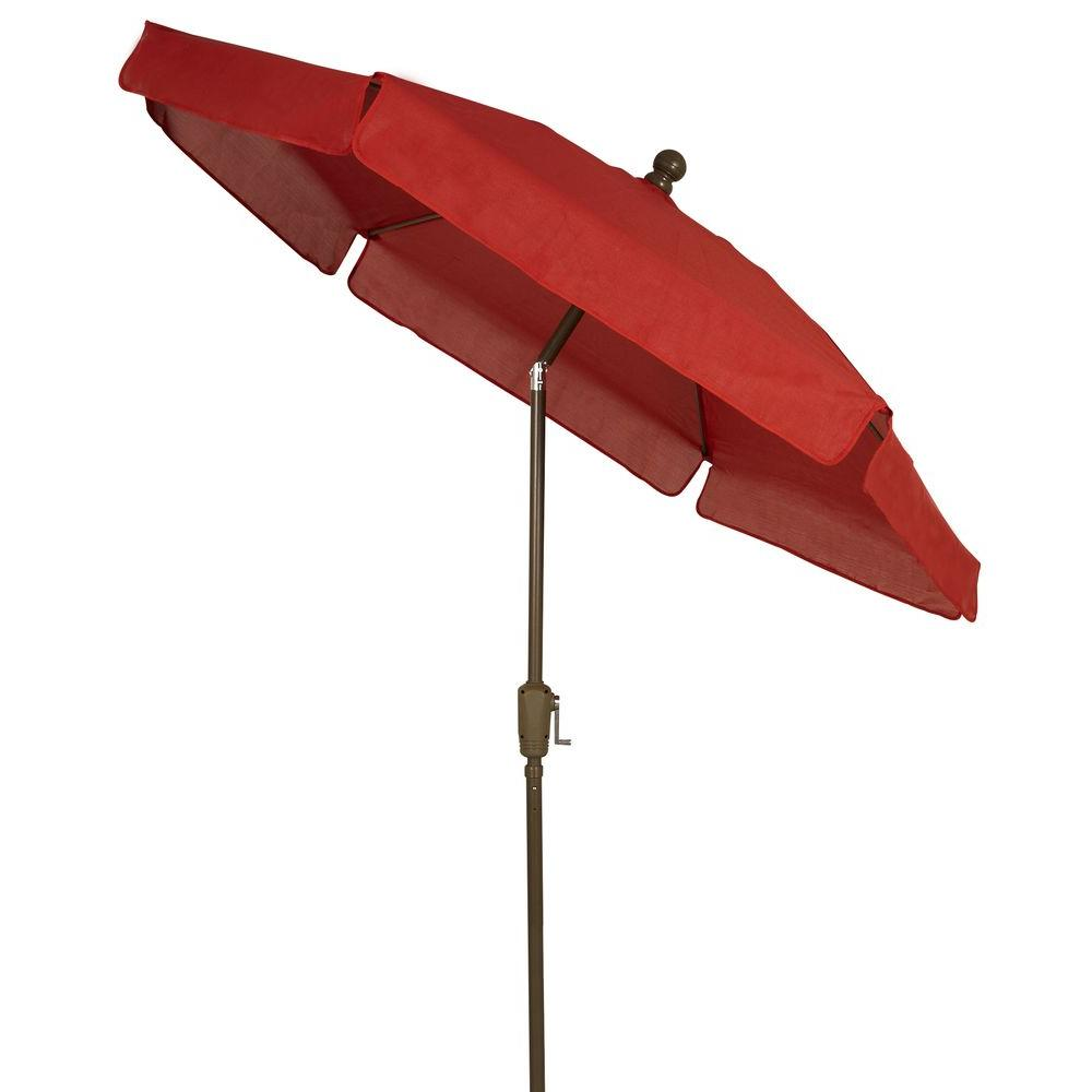 Fiberbuilt umbrellas 7 5 ft patio umbrella in red 7gcrcb for Balcony umbrella