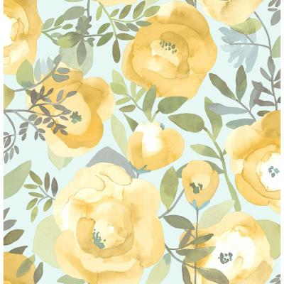 Peachy Keen Yellow Peel and Stick Wallpaper