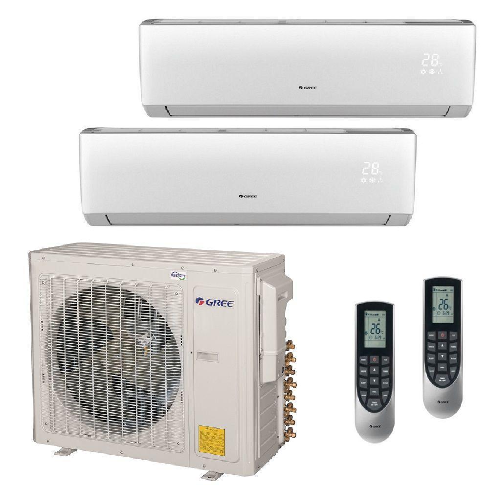 Multi-21 Zone 29000 BTU Ductless Mini Split Air Conditioner with Heat, Inverter, Remote - 230-Volt