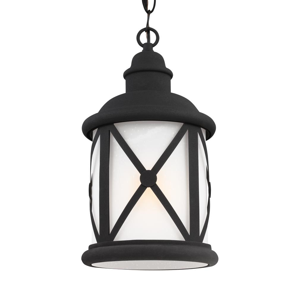 Lakeview Black 1-Light Outdoor Hanging Pendant