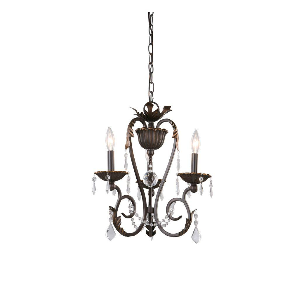 Home Decorators Collection Madison 3-Light Bronze Chandelier ...