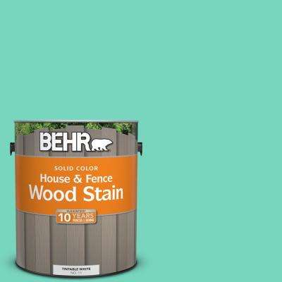 1 gal. #P430-3 Green Parakeet Solid House and Fence Exterior Wood Stain
