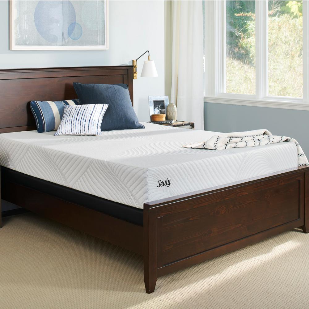 Conform Essentials Twin XL Cushion Firm Mattress with 9 in. High Profile Foundation Set
