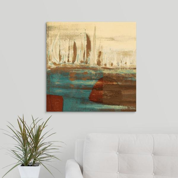 GreatBigCanvas ''Calm Waters Square I'' by Kingsley Art Canvas Wall Art