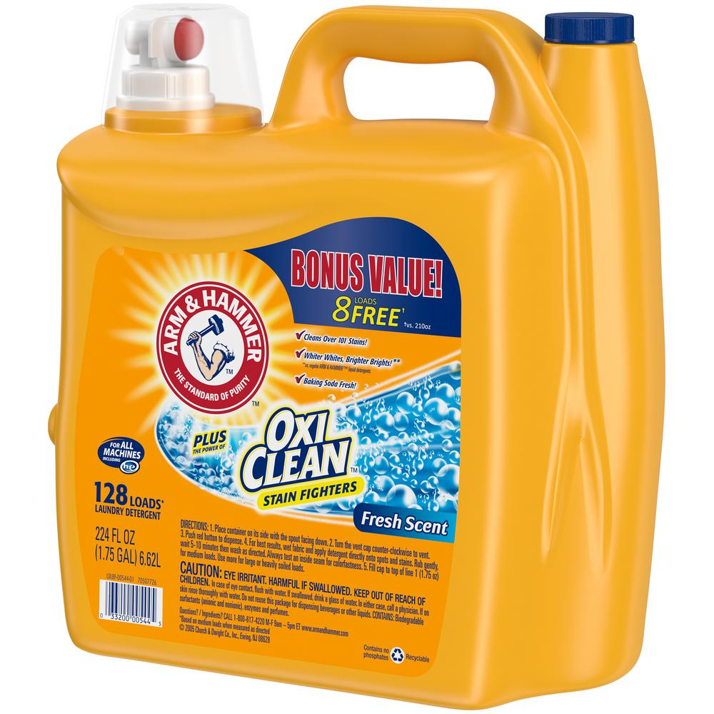 Arm Hammer 224 Oz Fresh Scent Liquid Laundry Detergent With