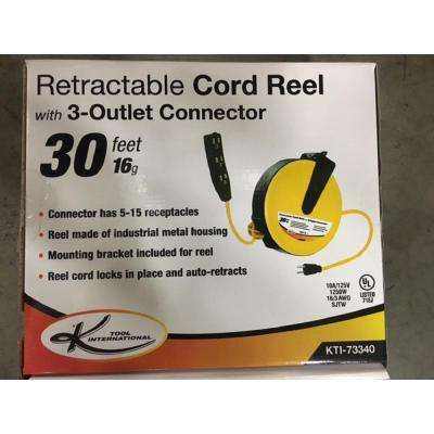 Retractable Extension Cord Reel