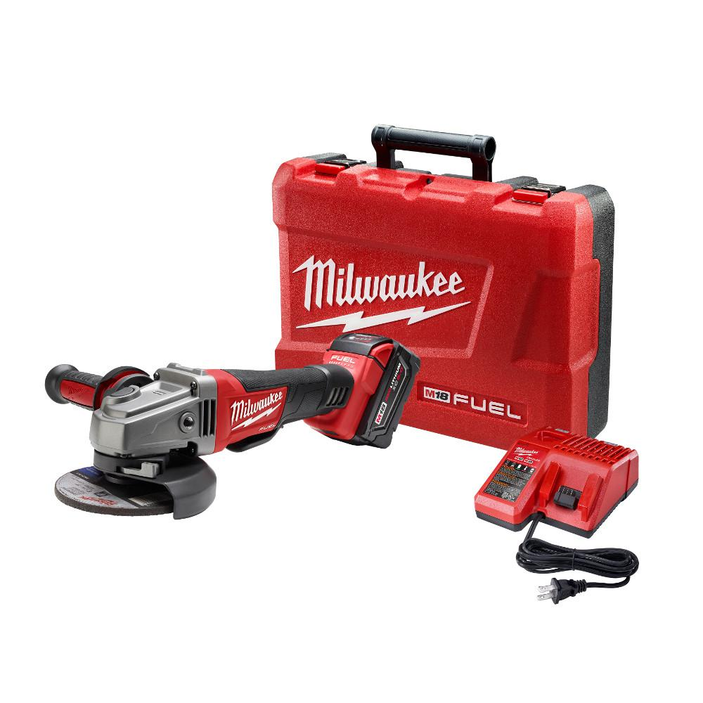 M18 FUEL 18-Volt Lithium-Ion Brushless Cordless 4-1/2 in. /5 in. Grinder,