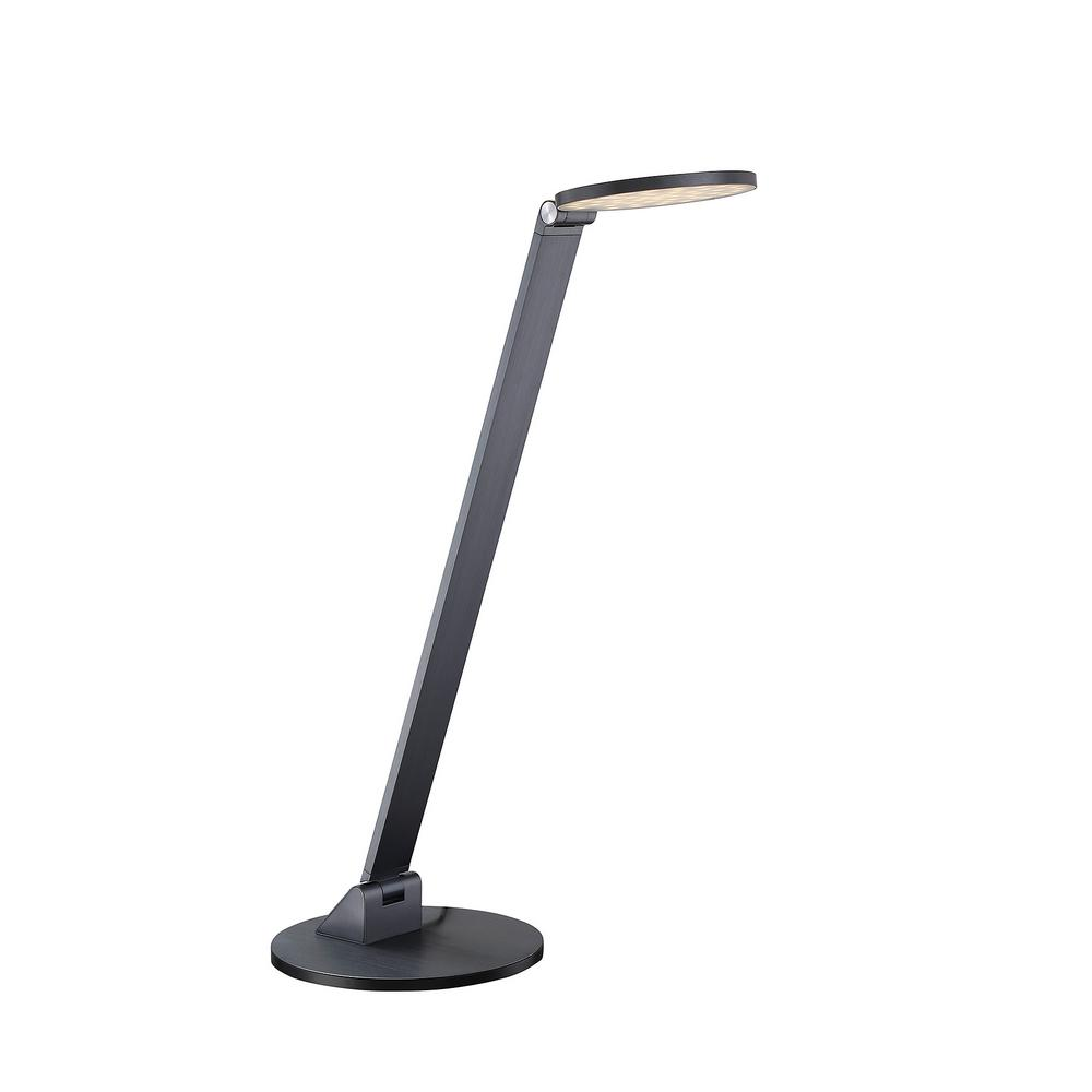 20.50 in. Blue Gray LED Table Lamp with Dimmer