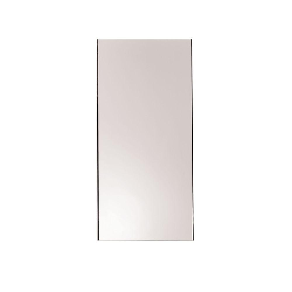 Ginger Kubic 16 in. W x 34 in. L Frameless Mirror