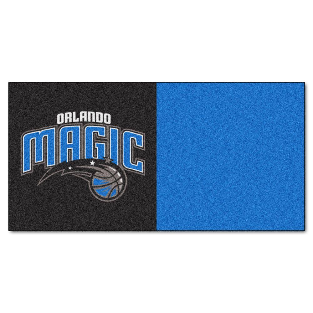 NBA Orlando Magic Black and Blue Pattern 18 in. x 18