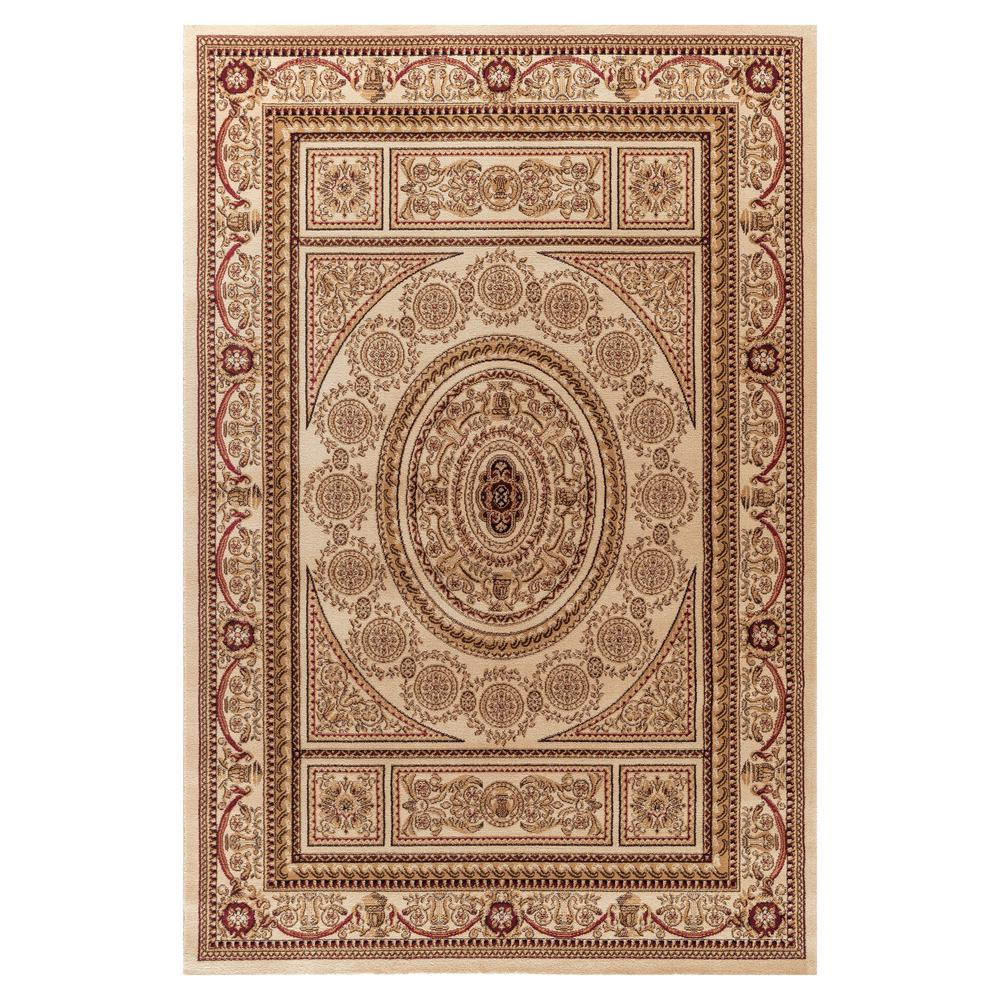 Jewel Aubusson Ivory 7 ft. 10 in. x 9 ft. 10 in. Area Rug