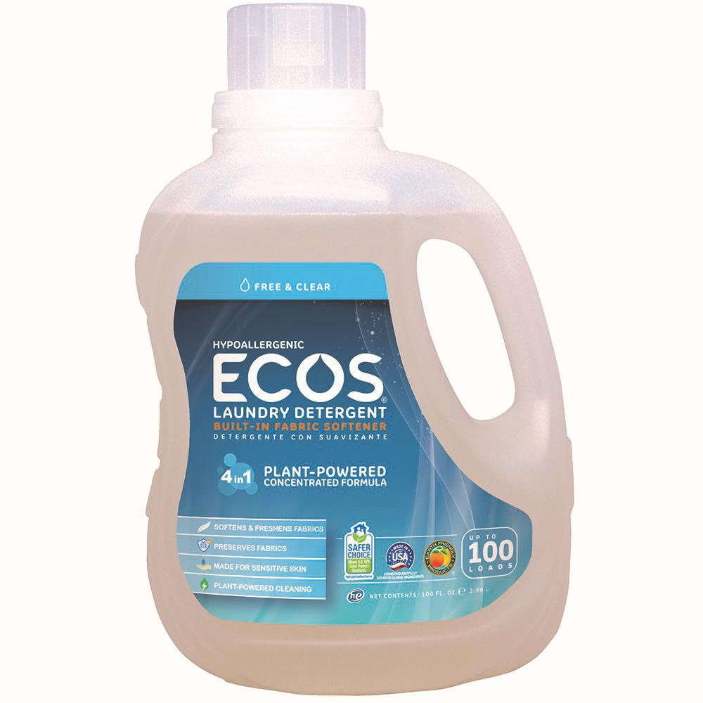 ECOS 100 oz. Free and Clear Liquid Laundry Detergent