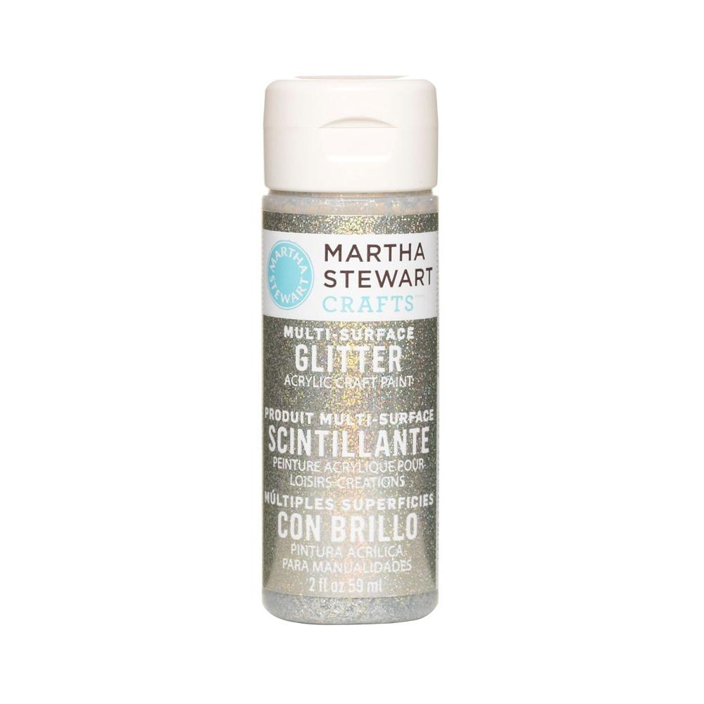 Martha Stewart Crafts 2-oz. Antique Silver Multi-Surface Glitter Acrylic Craft Paint