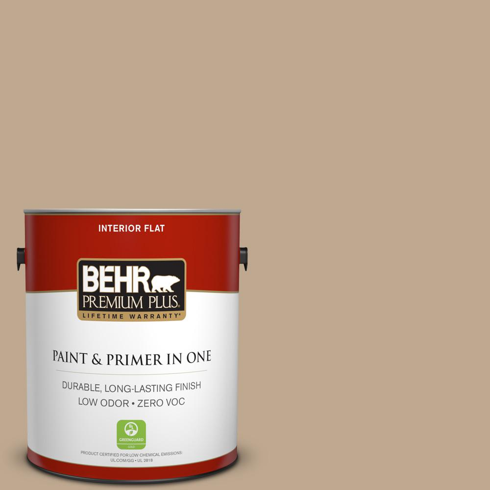 1 gal. #MQ2-25 British Khaki Flat Zero VOC Interior Paint and