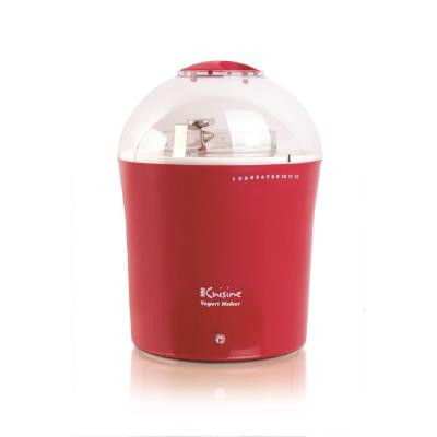 2 Qt. Red Yogurt Maker with Glass Jar and Stainless Steel Thermometer