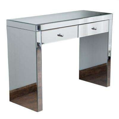 Roxie Mirrored 2-Drawer Console Table