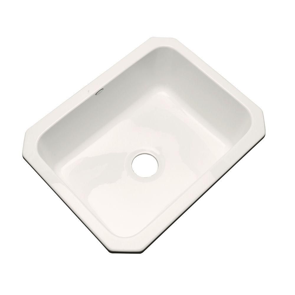 Thermocast Inverness Undermount Acrylic 25 in. Single Bowl Kitchen Sink in Biscuit