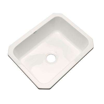 Inverness Undermount Acrylic 25 in. Single Bowl Kitchen Sink in Biscuit