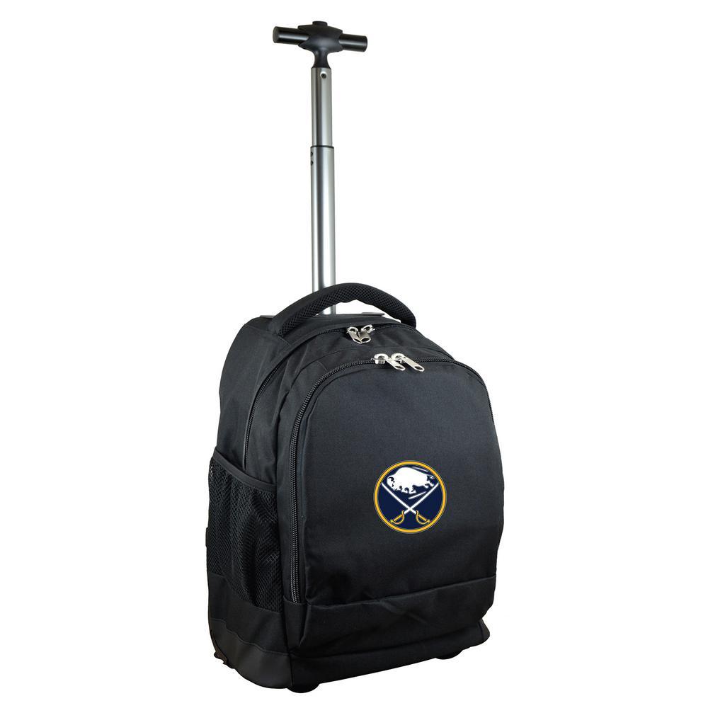NHL Buffalo Sabres 19 in. Black Wheeled Premium Backpack