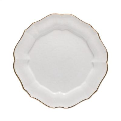 Impressions White and Gold Charger Plate