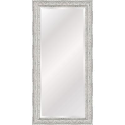 Antique White and Grey Farmhouse Full Length Leaner Mirror