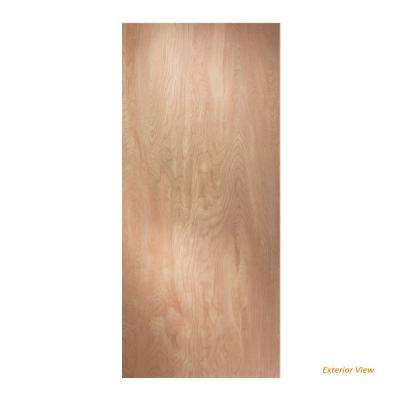 32 in. X 80 in. Hardboard Flush Unfinished Solid Core Hardwood Interior Door Slab