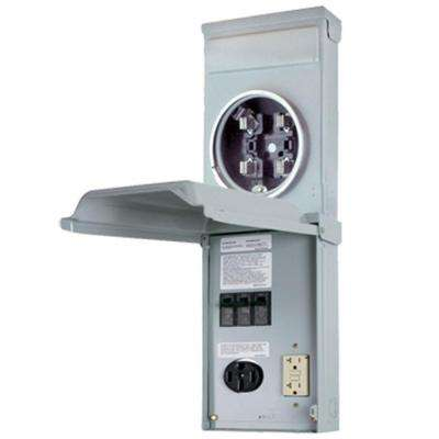RV Outlet Box 70 Amp 120/240-Volt Ring Type Metered with 50 Amp and 20 Amp GCFI Circuit Protected Receptacles