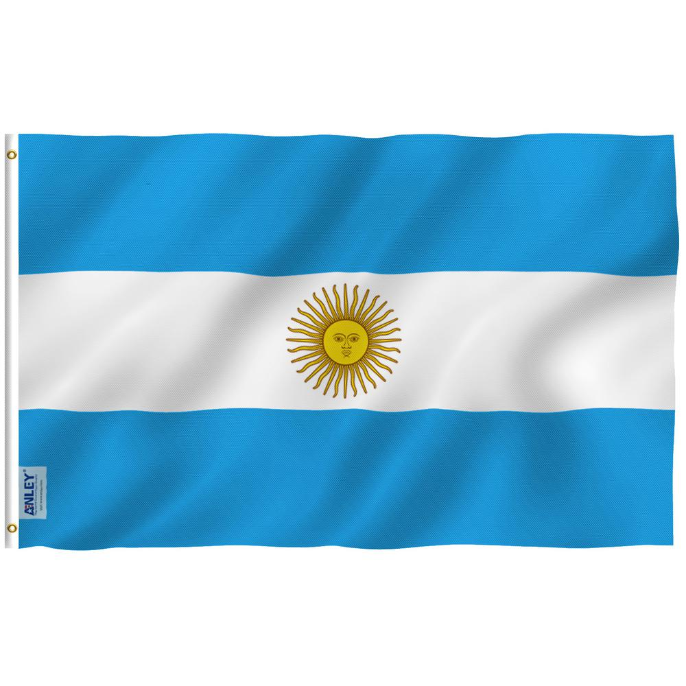Anley Fly Breeze 3 Ft X 5 Ft Polyester Argentinian Flag