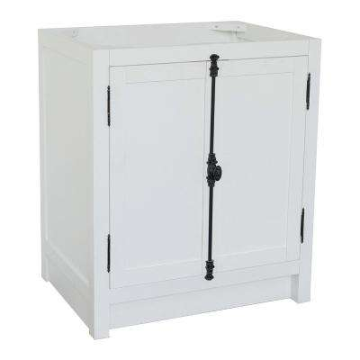 Plantation 30 in. W x 21.5 in. D Bath Vanity Cabinet Only in White