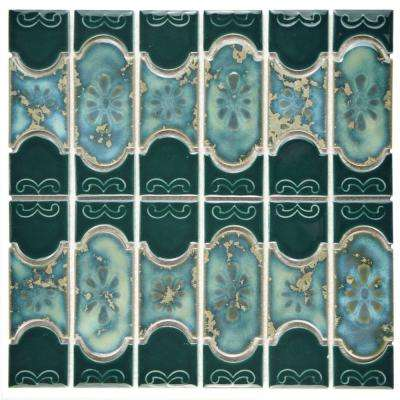 Montego Emerald 12-1/4 in. x 12-1/2 in. x 5 mm Porcelain Mosaic Tile