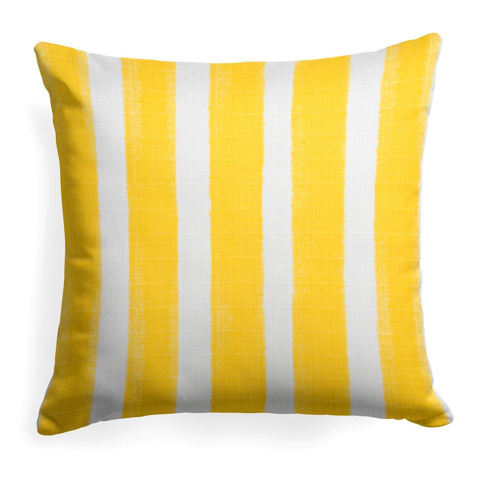 Caravan Yellow Square Outdoor Throw Pillow