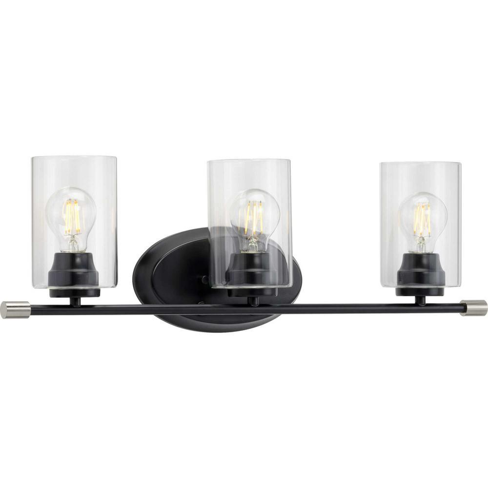 Riley 3-Light Black Bath Light