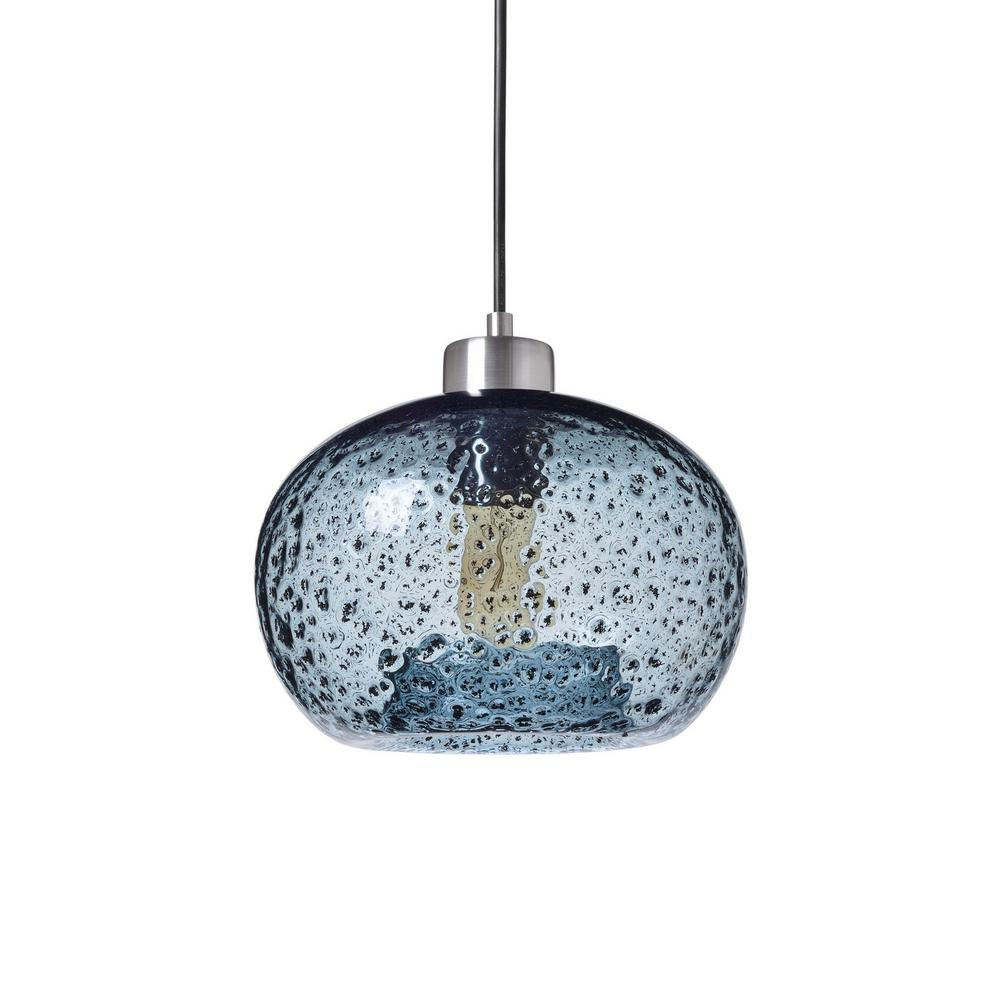 Casamotion 9 In. W X 6 In. H 1-Light Silver Rustic Seeded