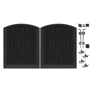 black vinyl privacy fence. H Black Vinyl Anaheim Privacy Double Drive Through Arched Fence Gate-153655 - The Home Depot G