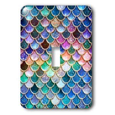 Multi-Colored 1-Gang Toggle Wall Plate (1-Pack)