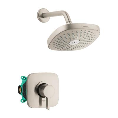 Croma Select E 180 Single-Handle 2-Spray Shower Faucet in Brushed Nickel (Valve Included)