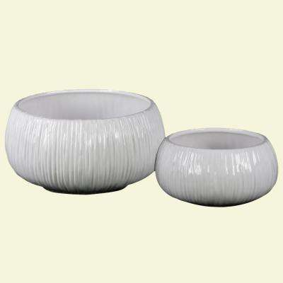 White Coated Ceramic Decorative Vase