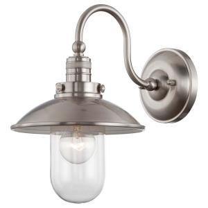 Minka Lavery Downtown Edison Brushed Nickel Sconce by Minka Lavery