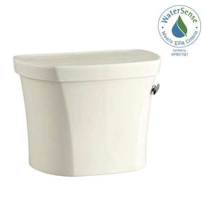 Wellworth 1.28 GPF Single Flush Toilet Tank Only with Insuliner and Right Hand Trip Lever in Biscuit