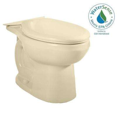 H2Option Siphonic Dual Flush Elongated Toilet Bowl Only in Bone