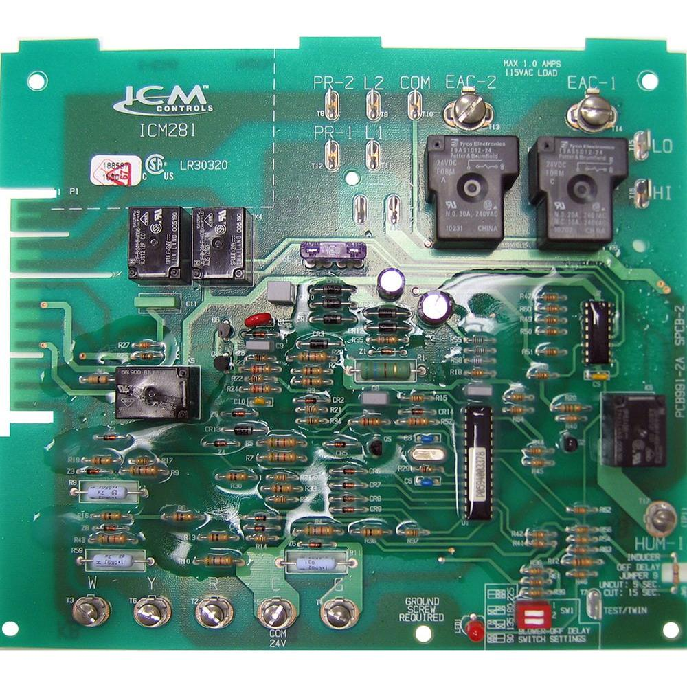 Control Board For Air Handler Electric Furnace 031 09156 000 The Printed Circuit Fuse Holders Carrier