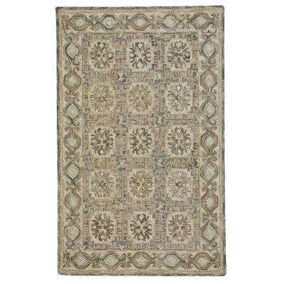 Lincoln Light Tan Silver 8 ft. x 10 ft. Area Rug